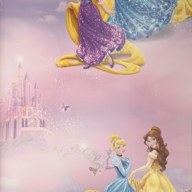 Papel pintado Princesas Disney Star