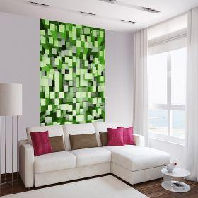 Fotomurales 3D Cuadros Verdes 1